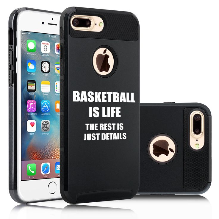 For iPhone SE 5 6 6s 7 Plus Dual Shockproof Hard Case Cover Basketball Is Life   eBay