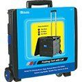 BAZIC Folding Cart on Wheels with Lid Cover 16 x 18 x 15 Inch Blue -- Want additional info? Click on the image.