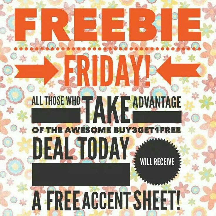 Freebie Friday! All those who take adbantage of the awesome B3G1F Deal Today will receive a FREE ACCENT SHEET!