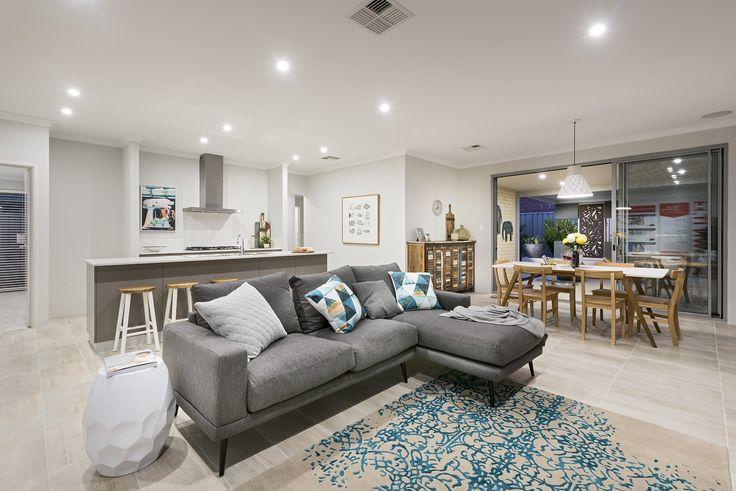 Homebuyers Centre Maverick Display Home Open Plan Living - Karnup, WA Australia
