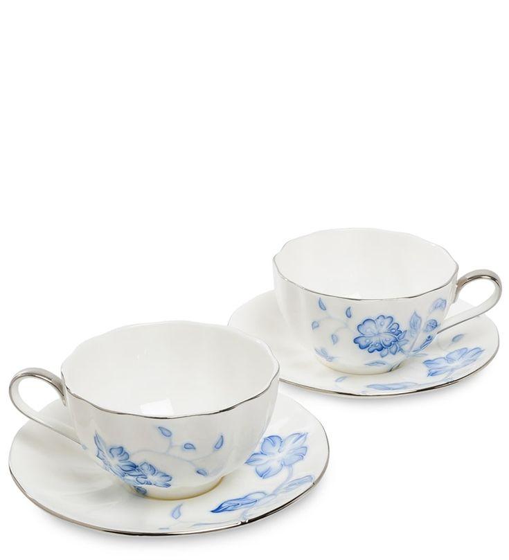 Чайный набор из фарфора на 2 персоны «Голубая бабочка» JS-31 (Pavone)      Бренд: Pavone (Италия);   Страна производства: Китай;   Материал: фарфор;   Количество персон: 2;   Количество предметов: 4 шт;   Объем чашки: 250 мл;          #костяной #фарфор, #ручная #роспись, #чайный #сервиз #bonechina, #handpainted, #teaset #чайныйнабор