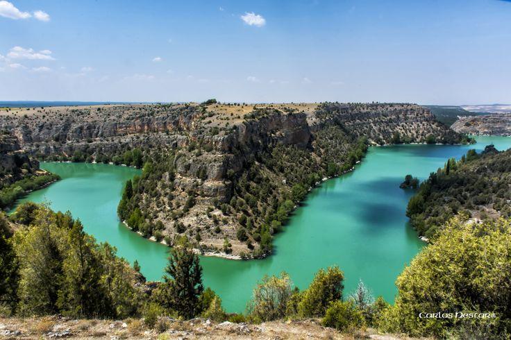 https://flic.kr/p/pnFMzV   Hoces del rio Duratón, Segovia   El agua no está retocada, en esa época del año, es de ese color.