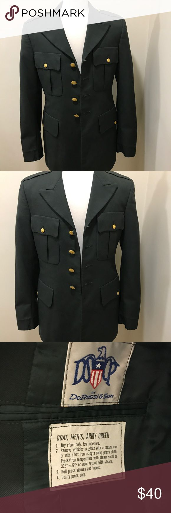 Men De Rossi Son US Army Military Jacket Size 39R Men's Uniform Dress Coat De Rossi & Son US Army Military Jacket Size 39R Pre-Owned Great Condition De Rossi & Son Jackets & Coats Military & Field