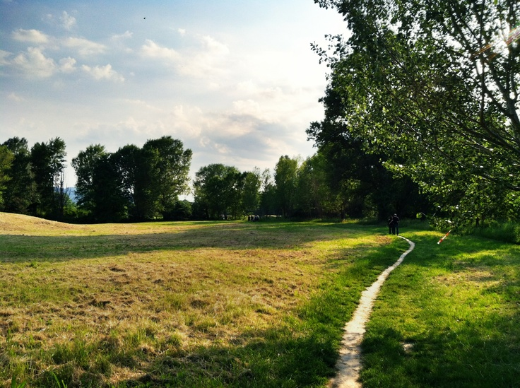 The trail to walk back up from rafting was serene and pretty. Bologna, Italy