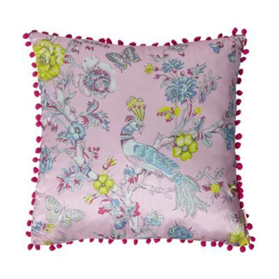 Butterfly Home by Matthew Williamson Designer pink floral peacock cushion- at Debenhams.com
