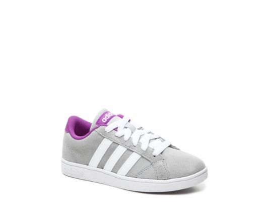 Women\u0027s adidas Baseline Girls Toddler \u0026 Youth Sneaker - Grey/Purple