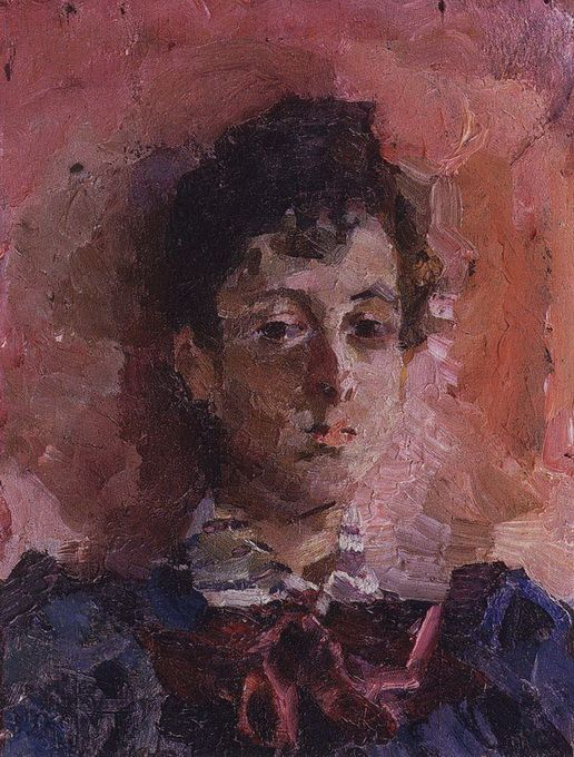 Portrait of M. V. Yakunchikova, 1887  Mikhail Vrubel