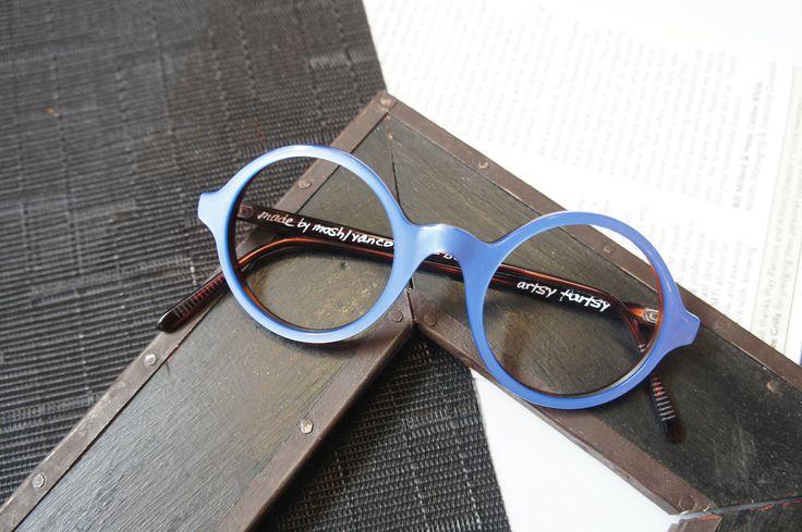 C L O U D N I N E // A day dreamer and a midnight thinker. (👓 : MOSHdesigns - 'artsy fartsy')  #artofhandmade #handmade #eyewear #trend #vancouver #mygastown #blue #customisable #eyeglasses