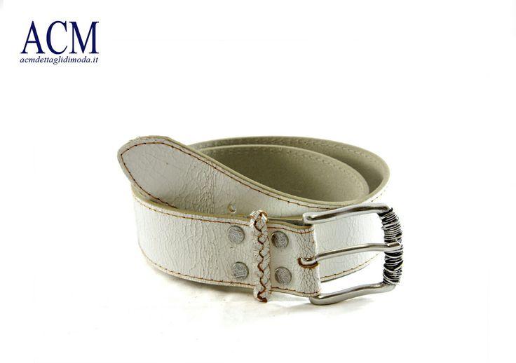 Cintura donna in pelle crack con passante intrecciato e fibbia vintage #crack #leather #belt #woman