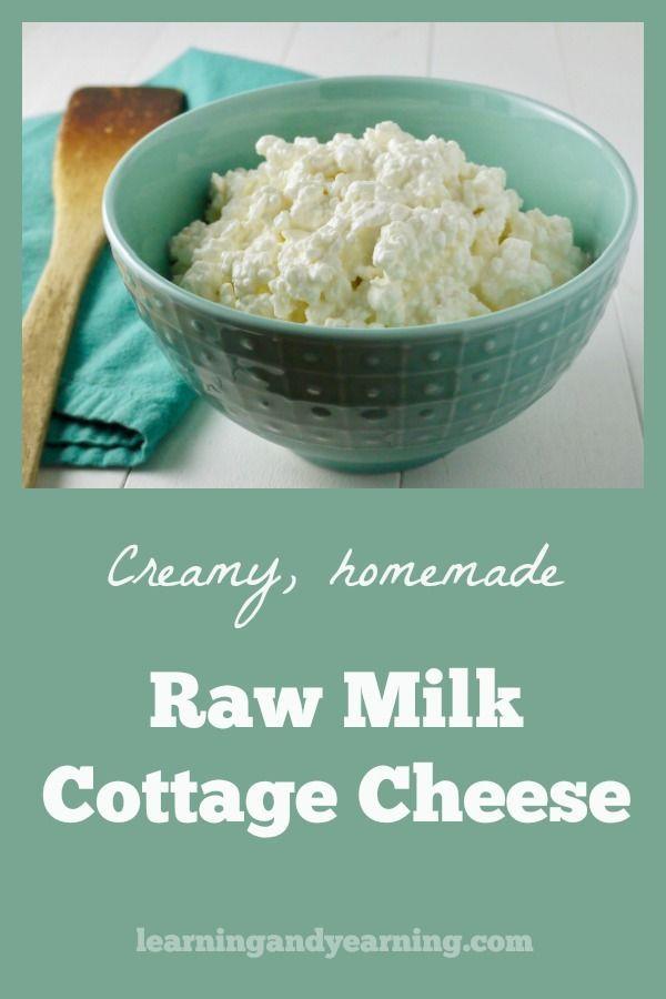Cultured Raw Milk Cottage Cheese Raw Milk Recipes Homemade Cottage Cheese Raw Milk