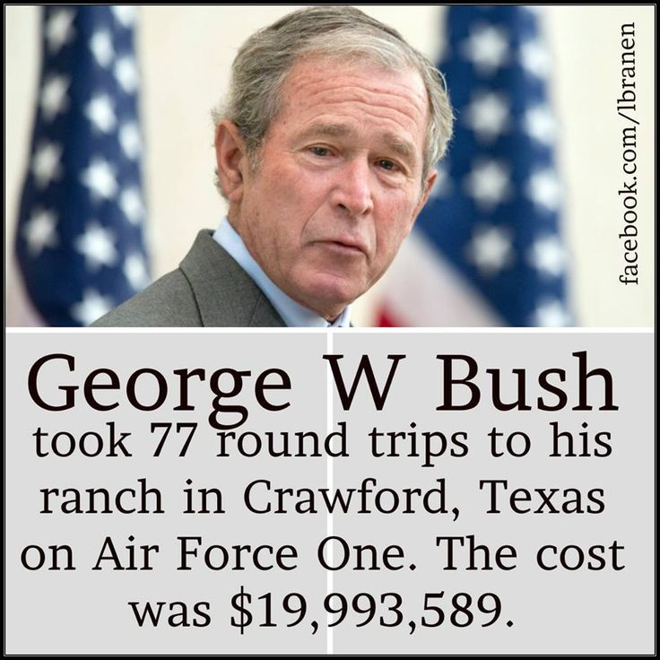 Conservative republican ????    Don't ever forget.  Source: http://www.dailykos.com/story/2009/06/02/738037/-Bush-Made-77-Trips-to-Crawford-TX-at-226-072-a-Pop