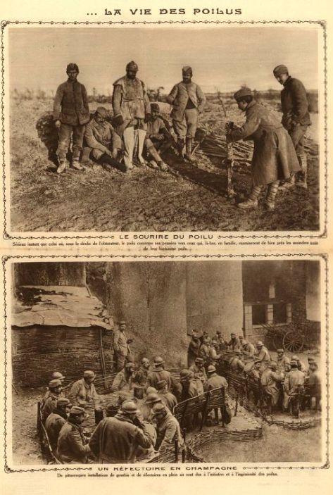 WWI, Feb 1916 ; The life of Poilus. La Tribune Républicaine/ Gallica