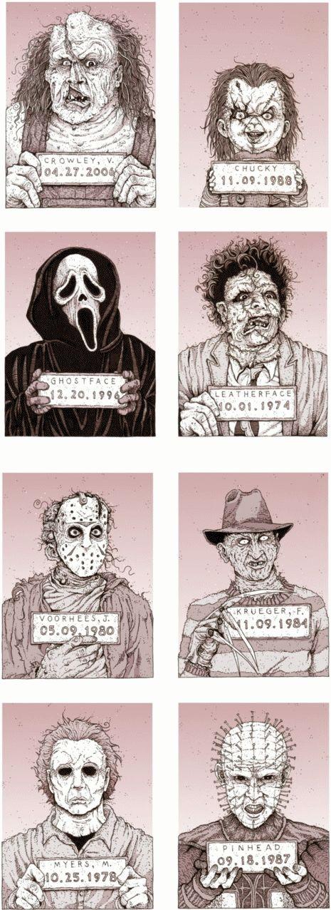 Horror Icons @Sheree Stephenson Stephenson Stephenson fails, @Jenn L Milsaps L dobbs martinez, @Reece Runnells Runnells Runnells Martinez