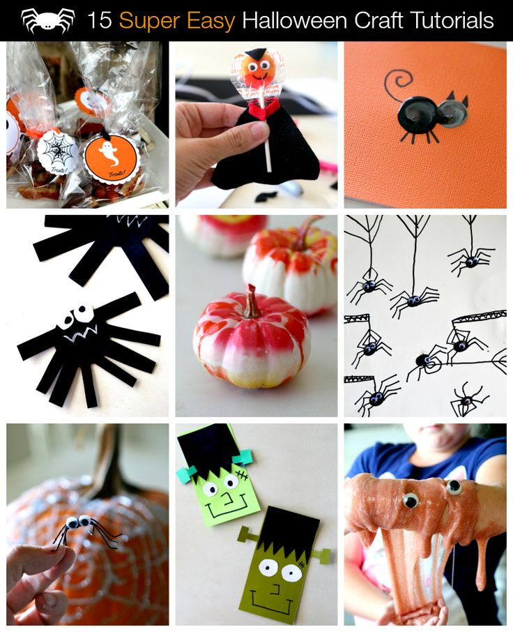 Easy Printable Halloween Crafts