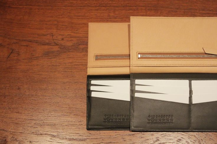Masion Margiela CALF LEATHER AND NATURAL LEATHER LONG WALLET