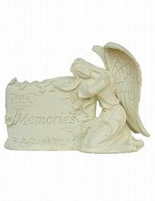 Angel Plaque Grave Ornament - Memories