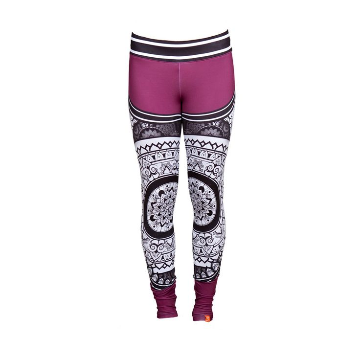PURPLE Printed SATTVA Leggings Unique Activewear Yoga Fitness Climbing Dance Pilates Breathable by SecondYouClothing on Etsy