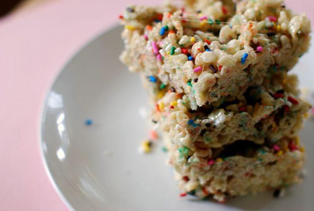 Sprinkles rice crispy treats