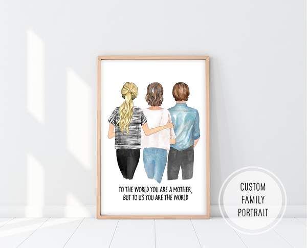 Birthday Gift For Mom Custom Mom Print Mom Birthday Gift