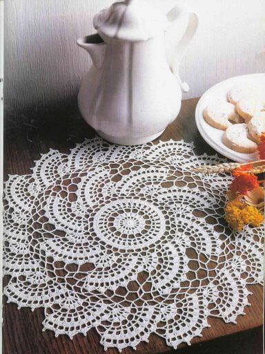 Tabletop doily lace