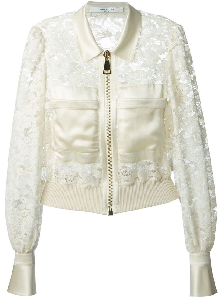 Givenchy Cropped Floral Lace Jacket - Eraldo - Farfetch.com