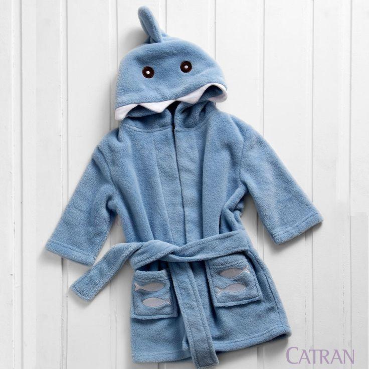Roupao de Banho Infantil Microfibra Le Petit Baby Tubarao - Catran Por R$ 59,00