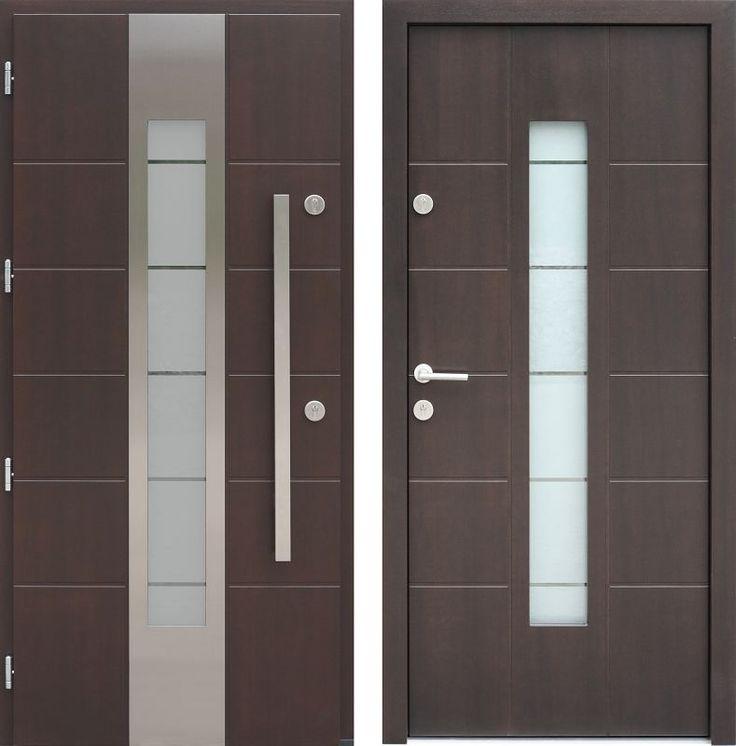 Drzwi wejściowe z aplikacjamii ze stali nierdzewnej inox wzór 471,5-471,15+ds11 tiama