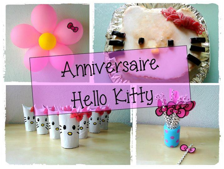Anniversaire Hello Kitty, décoration fille, gateau hello kitty, fete