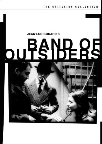 """Band of Outsiders (Bande à part, 1964) """"Two restless young men (Sami Frey and Claude Brasseur) enlist the object of their desire (Anna Karina) to help them commit a robbery––in her own home. French New Wave pioneer Jean-Luc Godard takes to the streets of Paris to re-imagine the gangster genre, spinning an audacious yarn that's at once sentimental and insouciant, romantic and melancholy."""""""