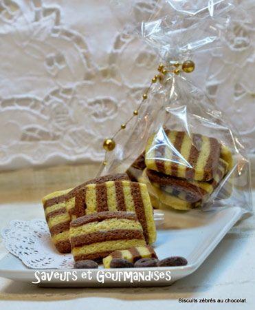 Biscuits zébrés vanille cacao cadeau gourmand noel