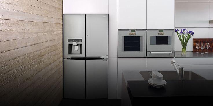 Bilderesultat for side by side kjøleskap integrert