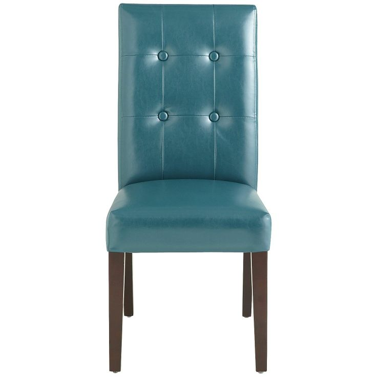 Mason Bonded Leather Dining Chair Teal Pier1 Us