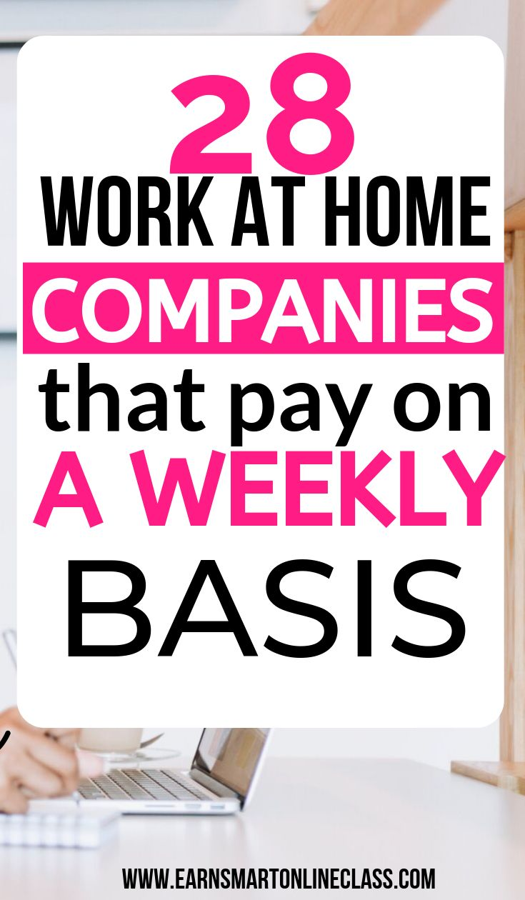 28 Work At Home Jobs That Pay