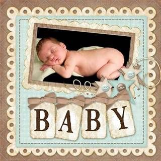 Baby Scrapbook Layouts - Bing Images ⊱✿-✿⊰ Follow the Scrapbook Pages board  visit GrannyEnchanted.Com for thousands of digital scrapbook freebies. ⊱✿-✿⊰