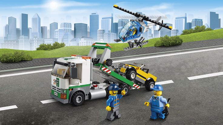 LEGO City Town tow truck and helicopter - City Square 60097