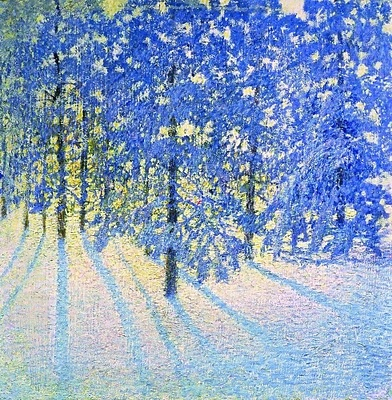 Winter Morning, 1907, Russian post-Impressionist painter Igor Grabar