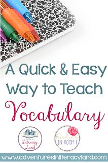 FREEBIE Alert!  I want to share my favorite vocabulary activity with you!  One of the great things about this Vocabulary Graphic Organizer is that it can be used K-5 and across all subject areas.  Click to read more!