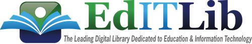 The vision for EdITLib, the Digital Library for Education & Information Technology, is to facilitate learning, discovery and innovation by connecting scholarly research on Educational Technology/E-Learning with learning opportunities. As a non-profit resource, EdITLib strives to keep rates low. All subscriptions sustain the further development and improvement of EdITLib for its users.