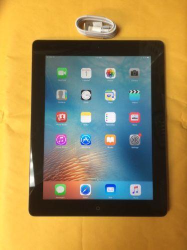Apple iPad 4th Generation 32GB Wi-Fi  Cellular (Unlocked) 9.7in - Black