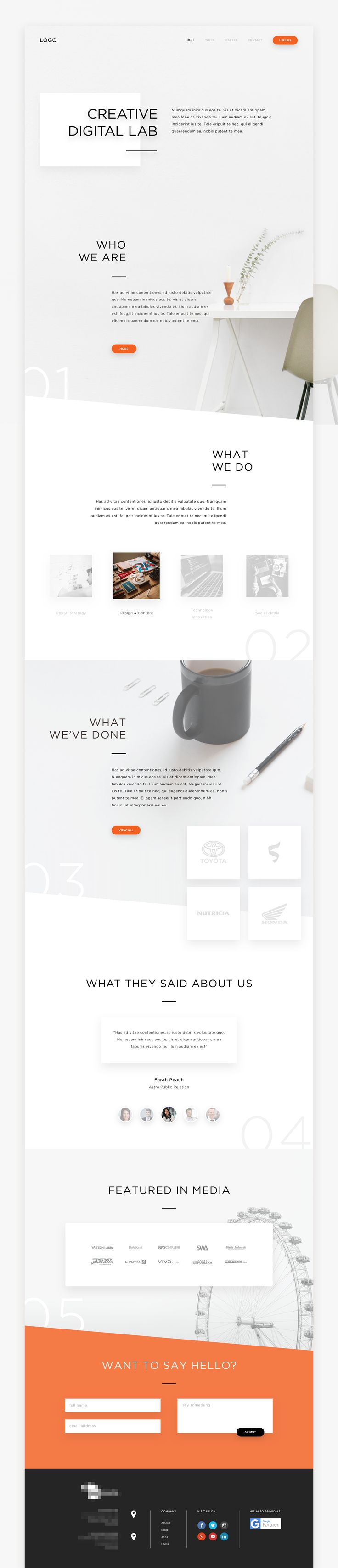 Creative Digital Lab - #webdesign #inspiration