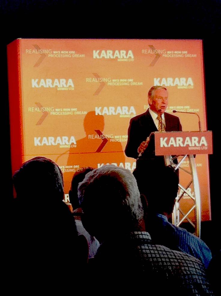 Karara Mine Colin Barnett WA Premier