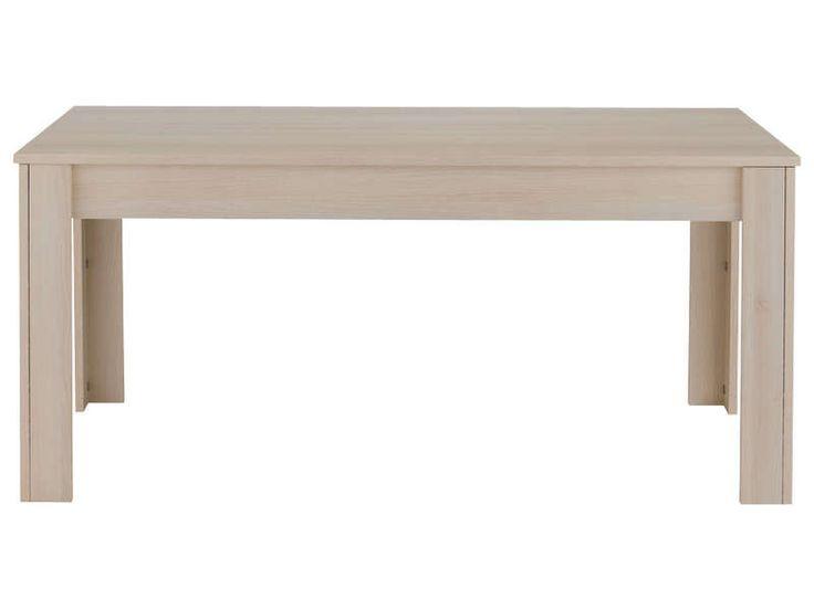 Table rectangulaire RUBIS coloris acacia - Vente de Table de cuisine - Conforama