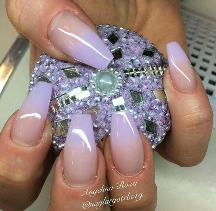 Purple ombre tips