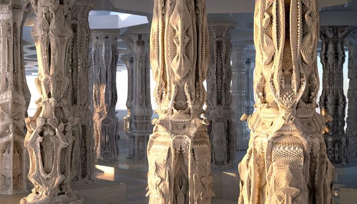 Ornamented Columns By Michael Hansmeyer