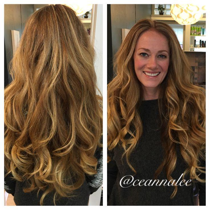#Light golden copper blonde #highlights #ombre