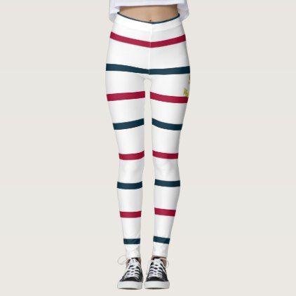 landlord nautical leggings  $63.30  by susanart  - cyo customize personalize diy idea