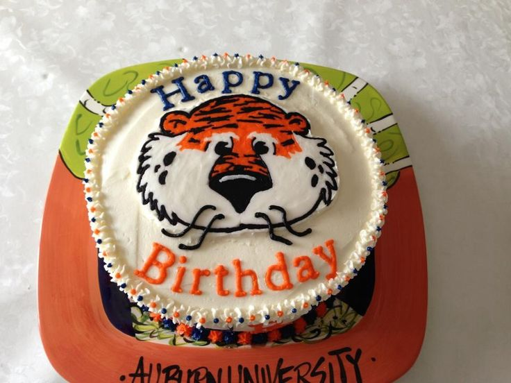 Aubie Birthday cake