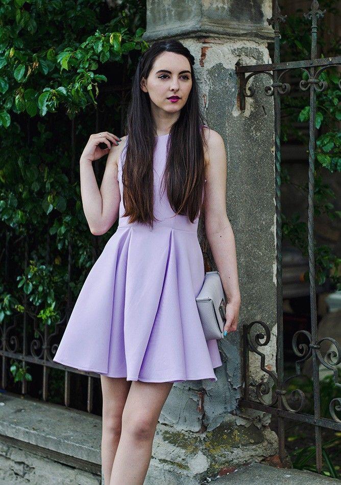 Oteea Land Oasap Dress H&M Bag C&A Shoes #oasap #lilac #skaterdress #summer