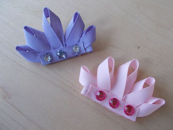 Princess Crown Hair Clip by KarensLittleBowtique on Etsy