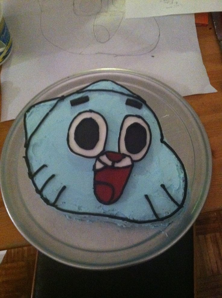 Gumball As In The Amazing World Of Cake Birthday
